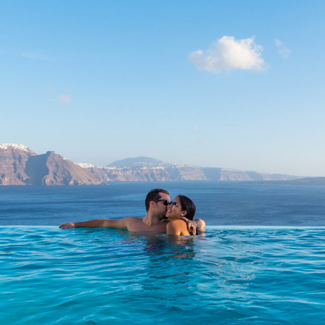 Romantic Couple at Santorini Secret Suites & Spa - Travelive Blog