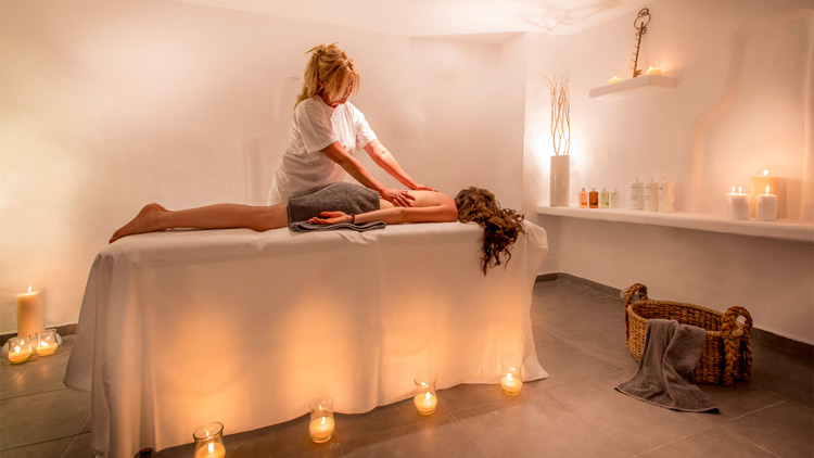 Massage Treatment at Harmonia Spa in Santorini Secret Suites & Spa