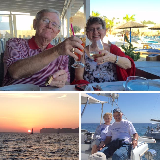Melba, Charles, July & Bill in Greece - Travelive Reviews