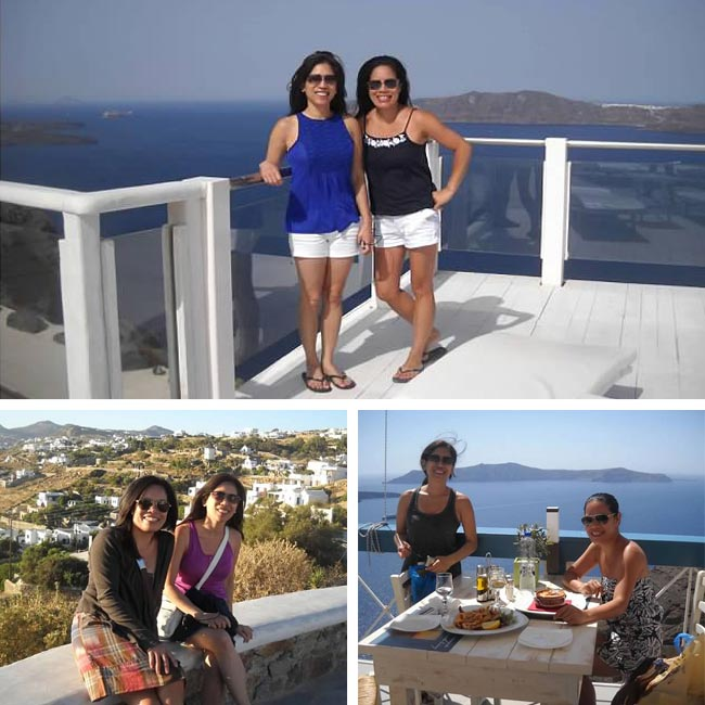 Sharon & Carmelita in Santorini - Travel Reviews