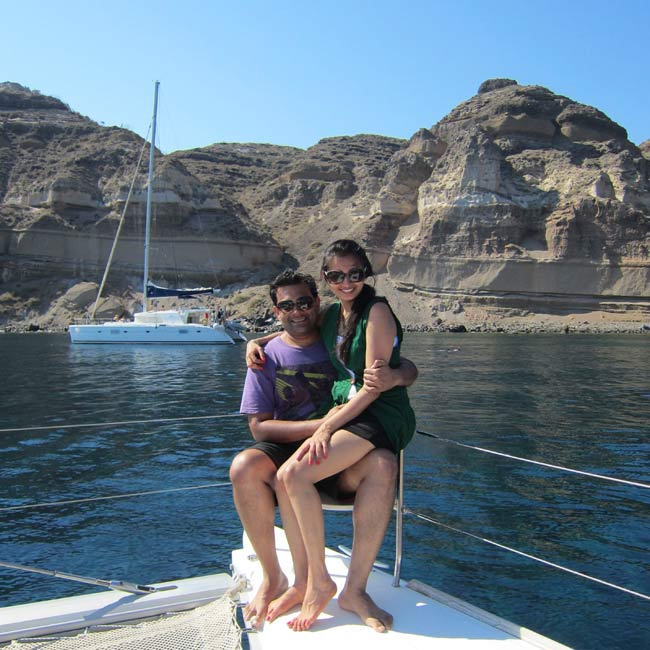 Suraj & Priyanka in Santorini - Travel Reviews