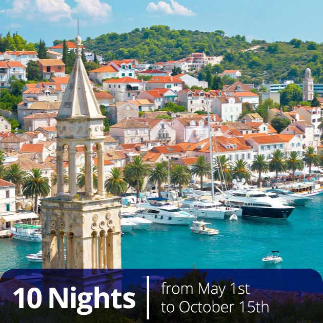 View of Hvar town from Fortica – Romantic honeymoons in Croatia, Travelive