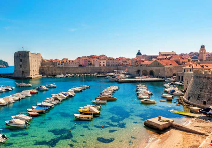 View of Dubrovnik old port – Romantic Honeymoon in Dubrovnik Split Hvar, Honeymoon package by Travelive