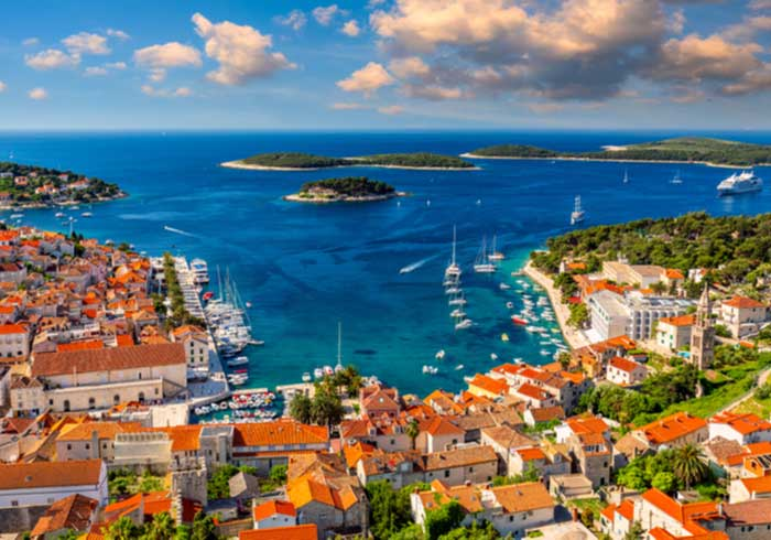 Hvar town panorama – Luxury honeymoon in Croatia, Travelive