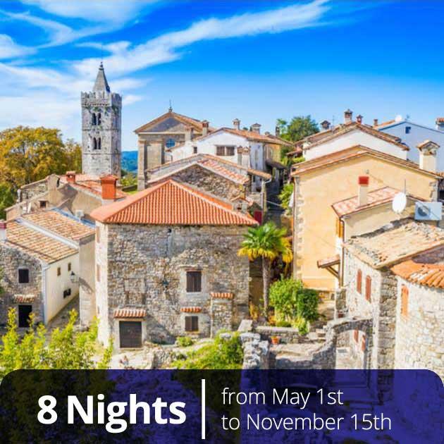 Traditional village in Istria – Romantic honeymoon Croatia, Travelive