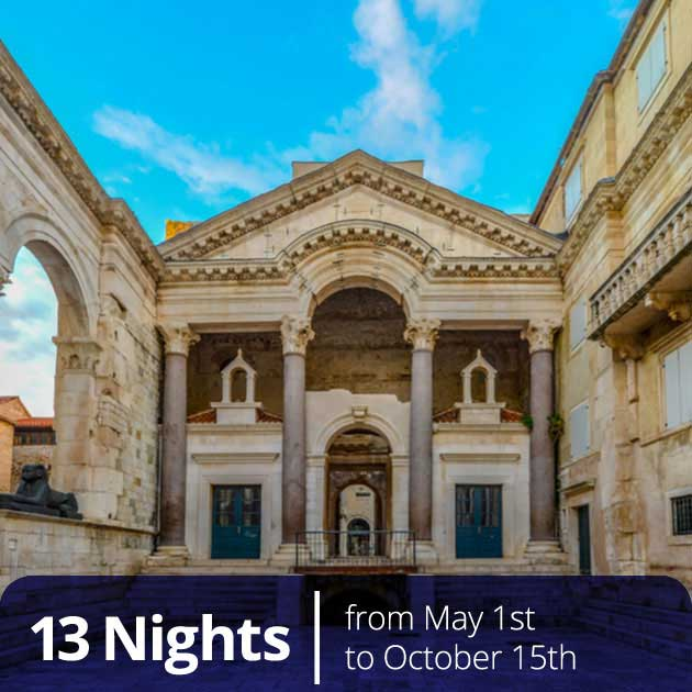 Split Diocletian Cellars entrance – Luxury Vacations in Croatia, Travelive