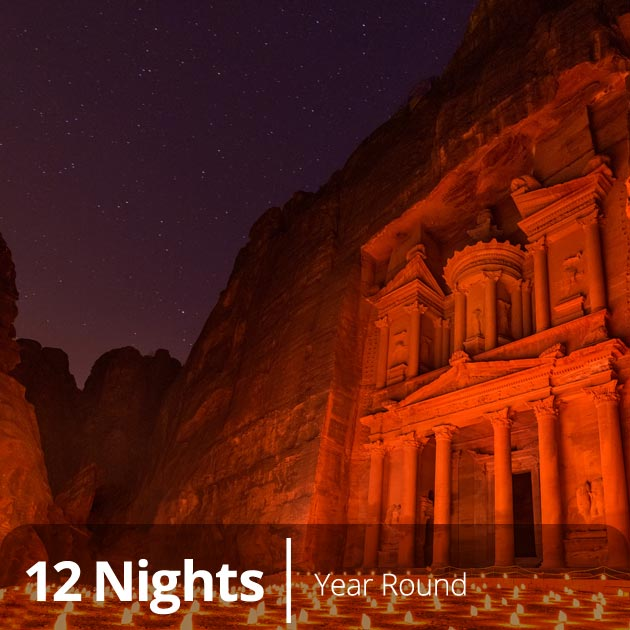 Al Khazneh by Night, Petra - HOneymoon Special Destinations