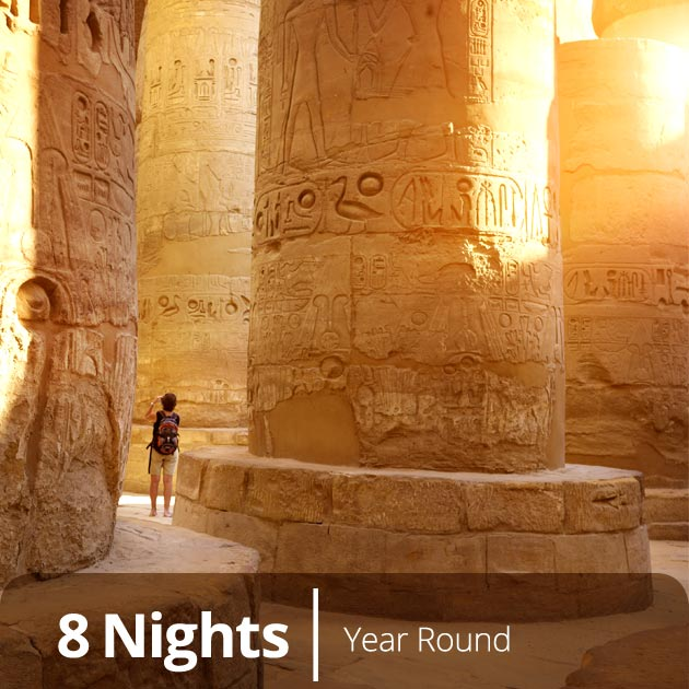 Luxor's Karnak Temple – Hypostyle Hall, Egypt Explorer with Travelive, Travel Vacation Packages