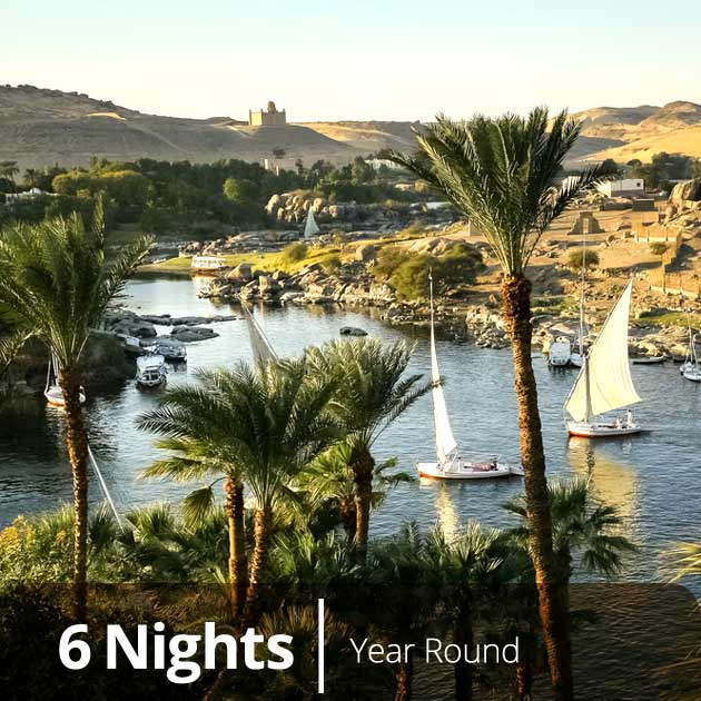 Nile River – Aswan, Nile Experience Vacation Getaways, Vacation Specials by Travelive