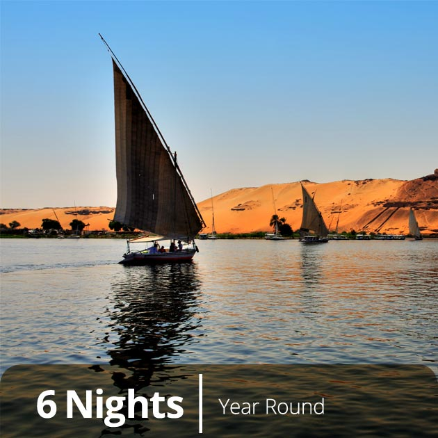 Felucas in Answan - Nile Luxury Honeymoon Packages, Travelive