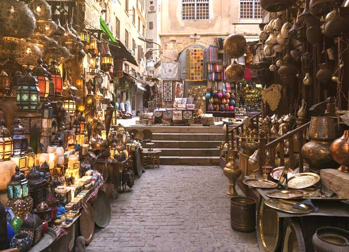 Khan Al Khalili Bazaar – Cairo, Egypt and Jordan Combined tours with Travelive, luxury travel