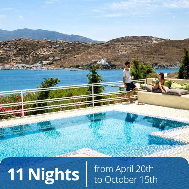Couple at Agalia Suites Hotel - Cycladic Memories, Luxury Honeymoon Packages in Ios, Travelive