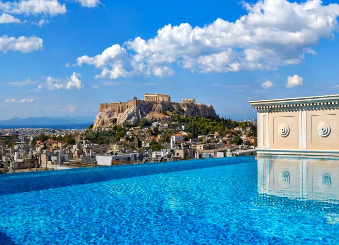 Acropolis view – King George Hotel, Athens Honeymoon package, Travelive, luxury travel agency