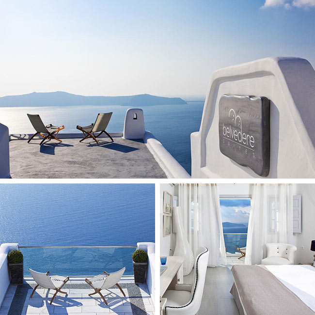 Belvedere Suites - Luxury hotels Santorini, Travelive
