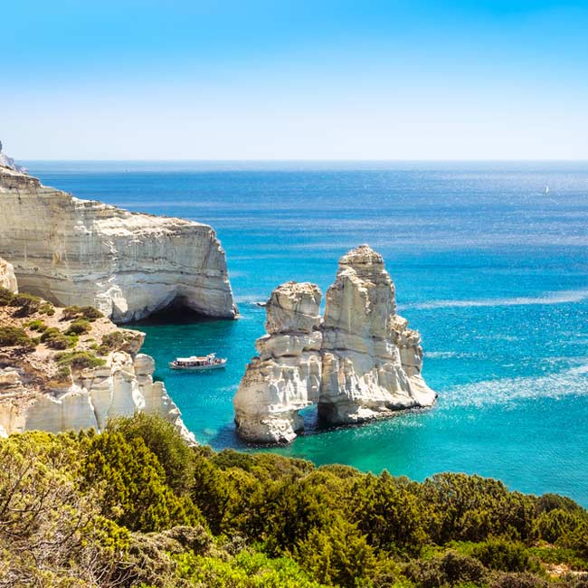 Milos Island – Kleftiko, top destinations in Greece by Travelive, luxury holidays