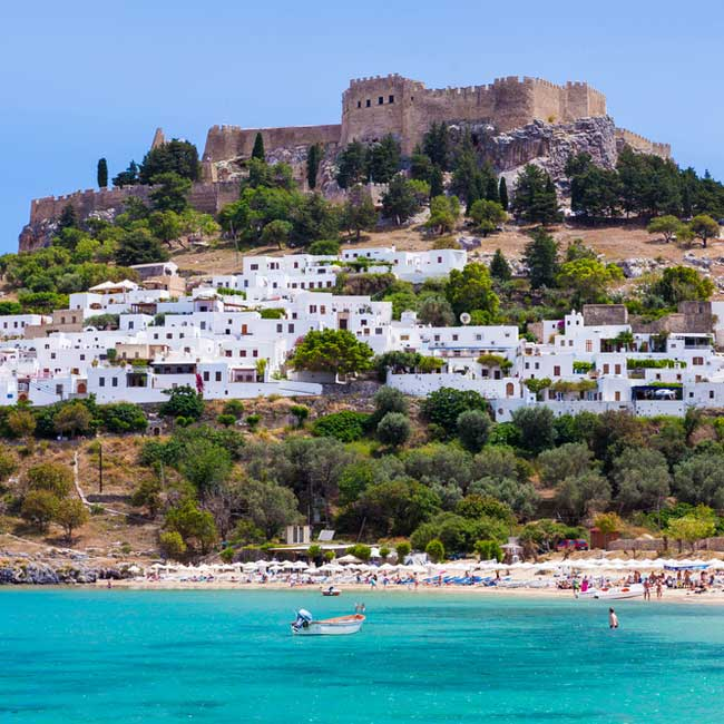 Lindos beach – Rhodes Island, Greece holiday destinations, packages with Travelive