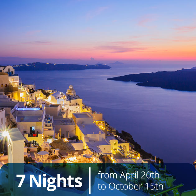 Sunset in Caldera – Santorini Island, Athens and Santorini Luxury Vacation Packages, Travelive