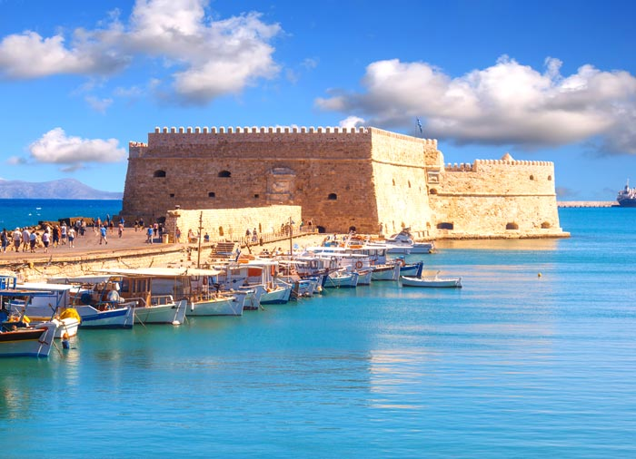 Koules Fortress – Heraklion tour on Crete honeymoon package with Travelive, luxury travel