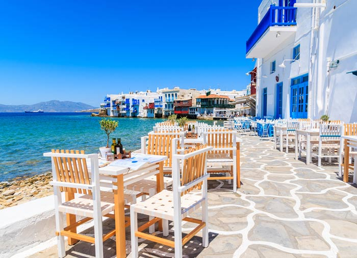 Restaurant – Mykonos island, Romantic Mykonos honeymoon packages, Travelive