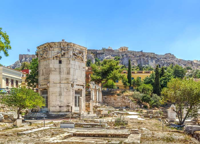 Athens – tower of the winds, Athens honeymoon tour with Travelive, Aegean romantic escape