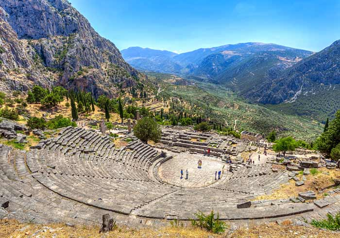 Delphi Theatre – Mainland Greece Holidays with Travelive, Luxury Travel Agency