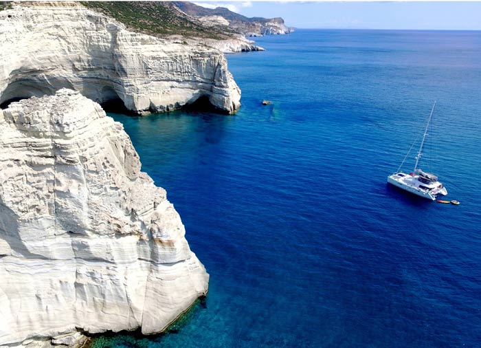 Catamaran Cruise – Milos Island romantic exploration with Travelive, Milos honeymoon
