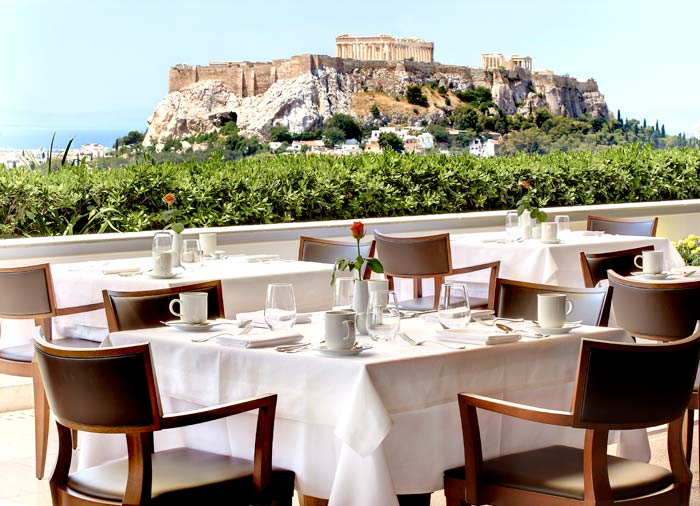 Grande Bretagne view of Acropolis – Athens honeymoon package created by Travelive
