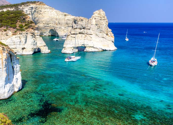 Kleftiko – Milos, Greek islands honeymoon, Travelive, luxury travel Cycladic Memories package