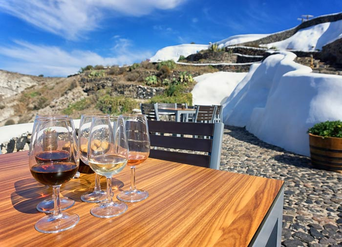 Santorini honeymoon - Wine taste tour with Travelive, luxury travel agency