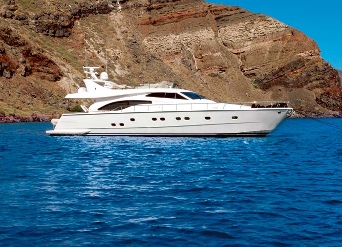 Private Yacht Charter – Santorini, Yacht honeymoon with Travelive, luxury travel agency