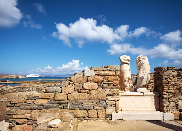 Cleopatra house – Delos Island, Greek islands honeymoon tours with Travelive