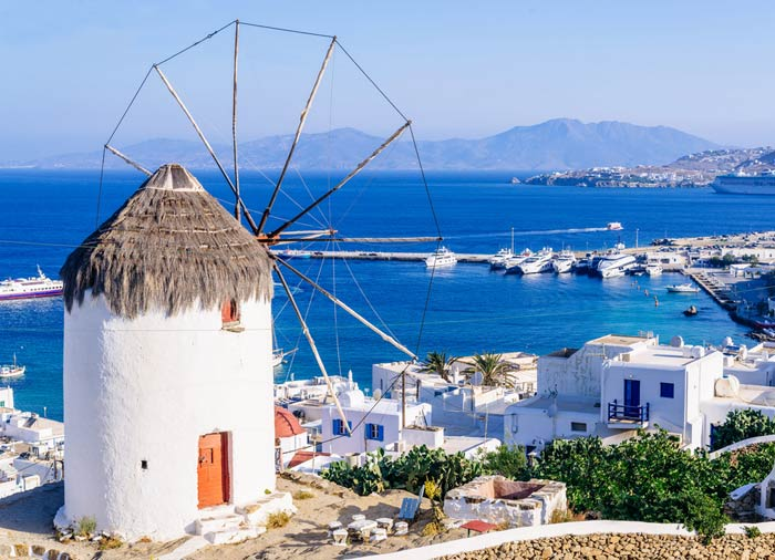 Windmill in Mykonos - Athens, Santorini, Mykonos tour packages, Travelive