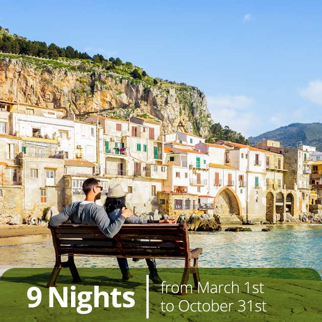 Couple in Cefalu -  Sicily Best Honeymoon Destinations by Travelive