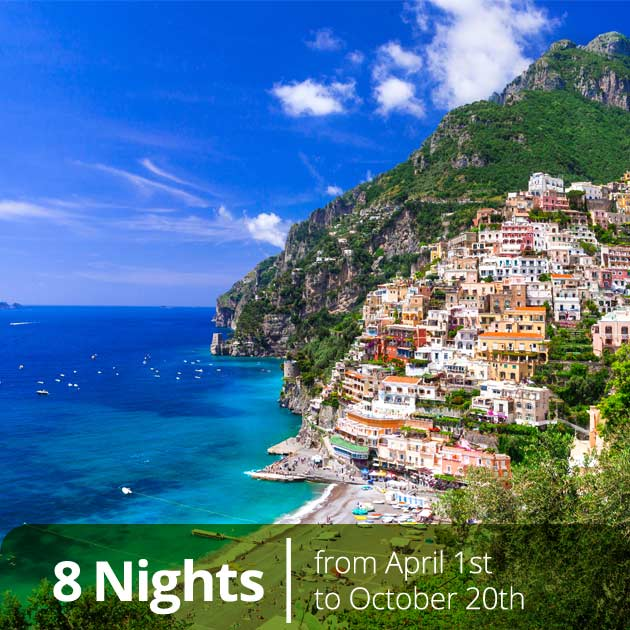 Positano Beach – Amalfi Coast Explorer Luxury Vacation Package with Travelive, Luxury Travel