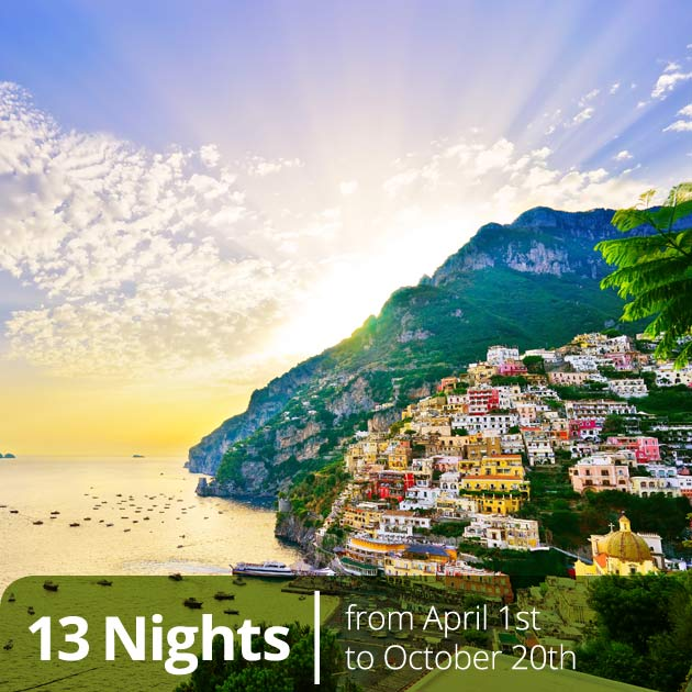 Positano - Amalfi Coast Luxury Honeymoon Packages with Travelive