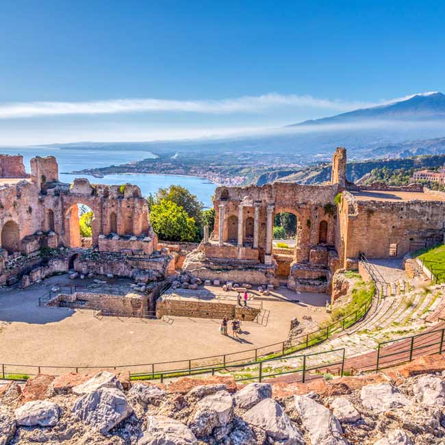Taormina amphitheater – Sicily Island, Italy destinations brought to you by Travelive