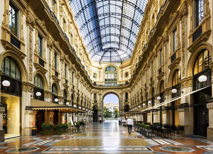 Milan – Galleria Vittorio Emanuele, Italian Riviera Vacations by Travelive, luxury travel