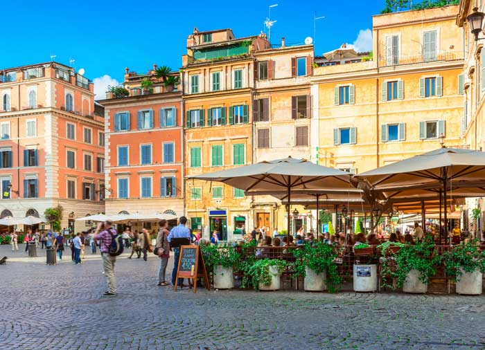 Santa Maria Square in Trastevere - Rome, Rome Tuscany Vacation Experience, Travelive