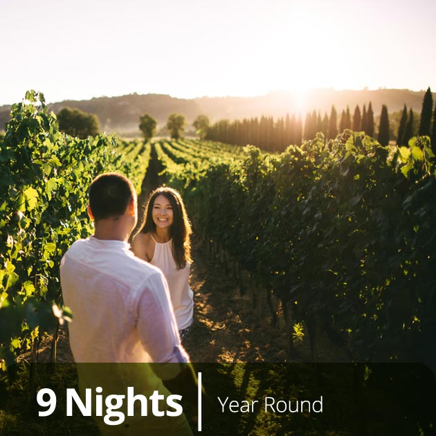 Couple in a Tuscan Vineyard - Honeymoon Getaways to Italy with Travelive