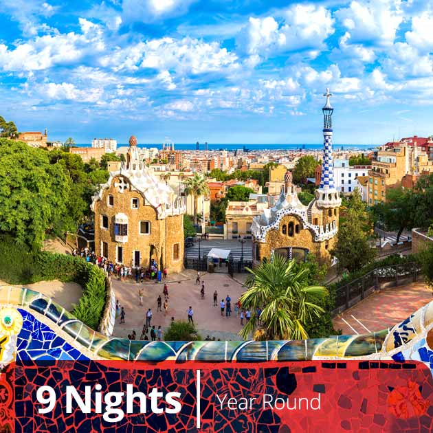 Park Guell – Barcelona, Luxury Vacation Packages with Travelive