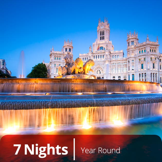 Plaza de la Cibeles – Madrid, Luxury Vacation Getaways with Travelive