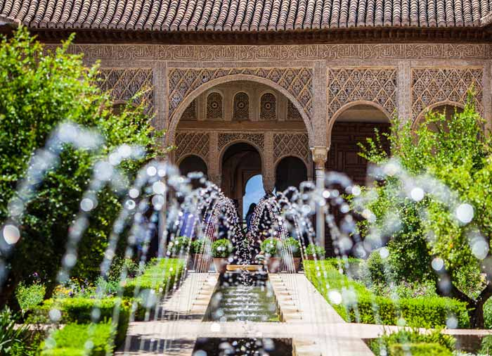 Generalife Gardens – Alhambra Granada, Granada Spain honeymoon tours with Travelive