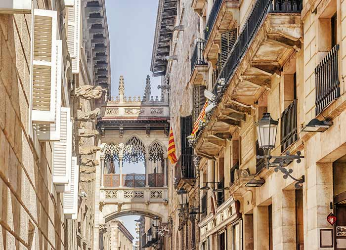 Gothic Quarter – Barcelona honeymoon tours with Travelive, luxury travel agency