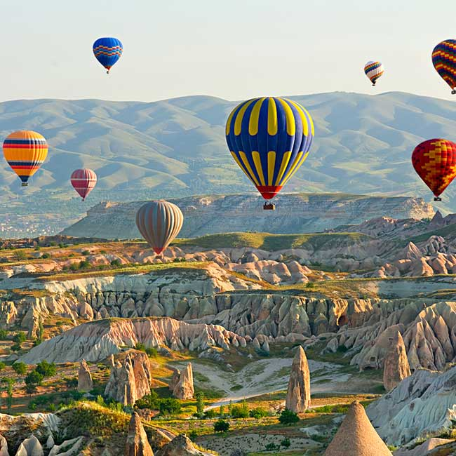 Cappadocia – hot air balloon ride, Turkey holiday destinations with Travelive packages