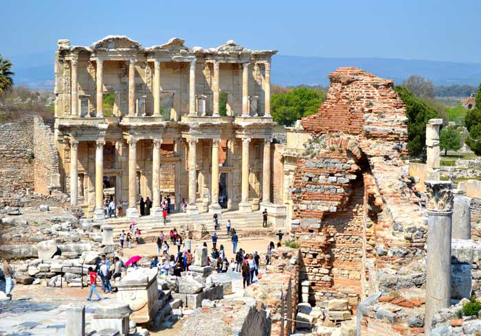 Ephesus Library – Turkey, Ephesus tours from Istanbul, Ottoman classics package, Travelive