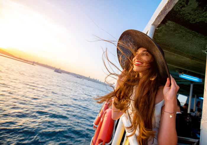 Young Woman on Bosphorus Cruise – Turkey, Ephesus Tours from Istanbul with Travelive
